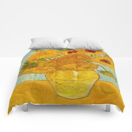 Sunflowers Oil Painting By Vincent van Gogh Comforters