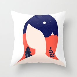 Girl World Throw Pillow