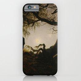 Caspar David Friedrich - Man and Woman contemplating the moon (1824) iPhone Case
