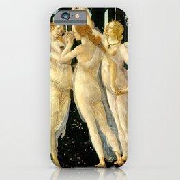 "Sandro Botticelli ""Spring"" The Three Graces (1) iPhone Case"