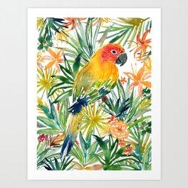 SONIA the SUN CONURE Art Print