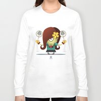 virgo Long Sleeve T-shirts featuring VIRGO by Angelo Cerantola