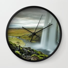 Seljalandsfoss Waterfall Island Wall Clock