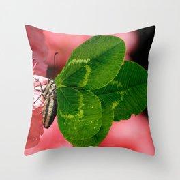 Lucky Butterfly Throw Pillow