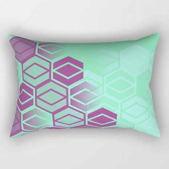 Purple on Mint Rectangular Pillow