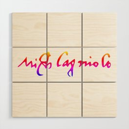 Michelangelo's pride signature Wood Wall Art