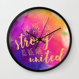 Stronger United Wall Clock