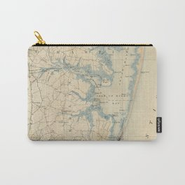 Vintage Map of Ocean City Maryland (1900) Carry-All Pouch