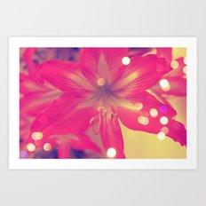 Secret Garden| Pink tigress  Art Print