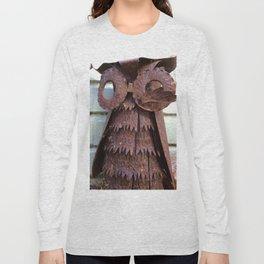 Rusty metal owl Long Sleeve T-shirt