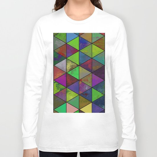 Textured Triangulation - Abstract, geometric triangles Long Sleeve T-shirt