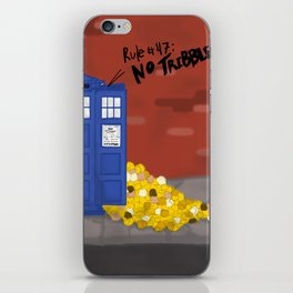 Tribble-y Wobbly Time-y Wimey iPhone Skin