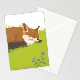 Snoozy Red Fox Stationery Cards