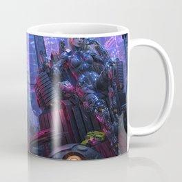 Fascinating Futuristic Beautiful Female Cyborg Warrior Enforcer UHD  Coffee Mug