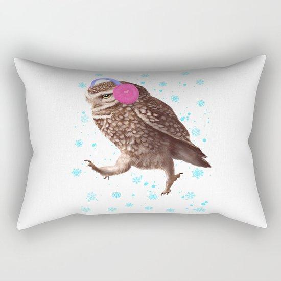 Owl with headphones Rectangular Pillow