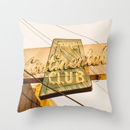 The Continental Club Throw Pillow