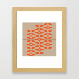 abstract eyes pattern orange tan Framed Art Print
