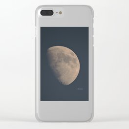 November Half Moon Clear iPhone Case
