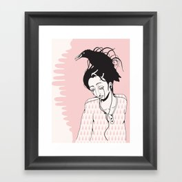 Sad Framed Art Print