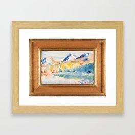 Lapporten autumn, Isaac Grunewald, (1889-1946) impressionist Framed Art Print