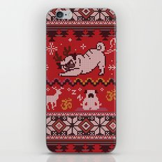 Pugly Yoga X-Mas iPhone & iPod Skin