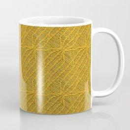 Yellow Lines Knit Coffee Mug