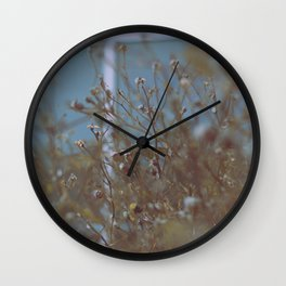 Withered Winter Plants Wall Clock