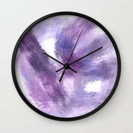Purple Watercolor Abstract Art Wall Clock