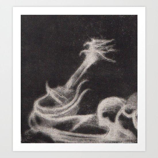 Guitar Ghost Art Print