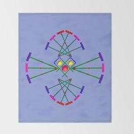 Croquet - Mallets,Balls and Hoops Design Throw Blanket