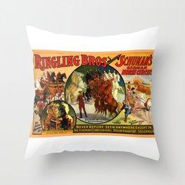 Vintage  circus poster Throw Pillow