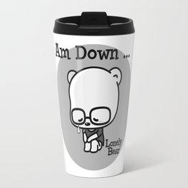 Lonely Bear is Down Travel Mug