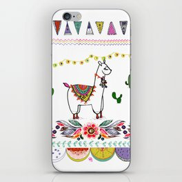 Llama Illustration iPhone Skin