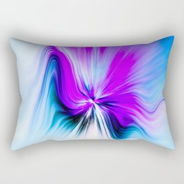 Abstract Moving Butterfly Design Rectangular Pillow