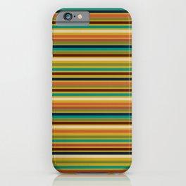 Joseph Stripes - Mid Century Modern Pattern in Mid Mod Teal, Navy, Orange, Maroon, Beige, Olive, and Mustard iPhone Case