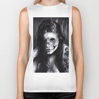 day of the dead Biker Tanks featuring Day Of The Dead by leonmorley
