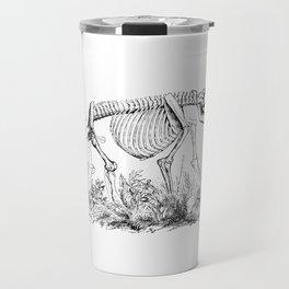 Skeleton of a Monster Bear Illustration Travel Mug