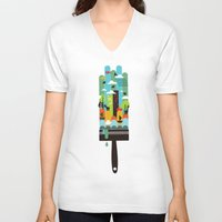 child V-neck T-shirts featuring Paint your world by Picomodi