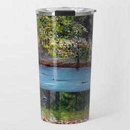 Partially Frozen Duck Pond Travel Mug