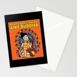 Buddha Saying Mandala Relax Stationery Cards