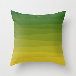 Shades of Grass - Line Gradient Pattern between Lime Green and Bright Yellow Throw Pillow