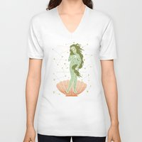 venus V-neck T-shirts featuring Venus by LordofMasks
