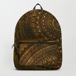 Lime Brown Mandala Backpack