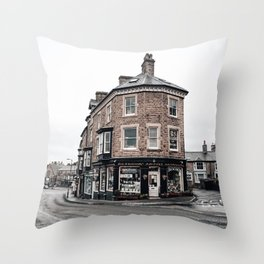 Book shop in Buxton Throw Pillow