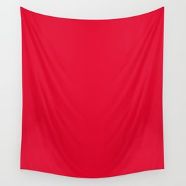 Medium Candy Apple Red - solid color Wall Tapestry