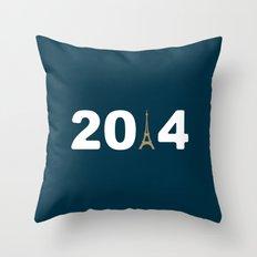2014-Paris Throw Pillow