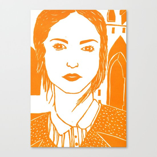 WUTHERING HEIGHTS - LINO (ORANGE VERSION)  Canvas Print