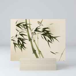 Oriental style painting, bamboo branches Mini Art Print
