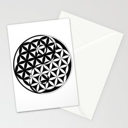 Yin Yang Flower Stationery Cards