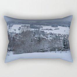 White Snowy Brotterode Rectangular Pillow